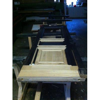 Eichenhaustür fehlende Holzteile ersetzt